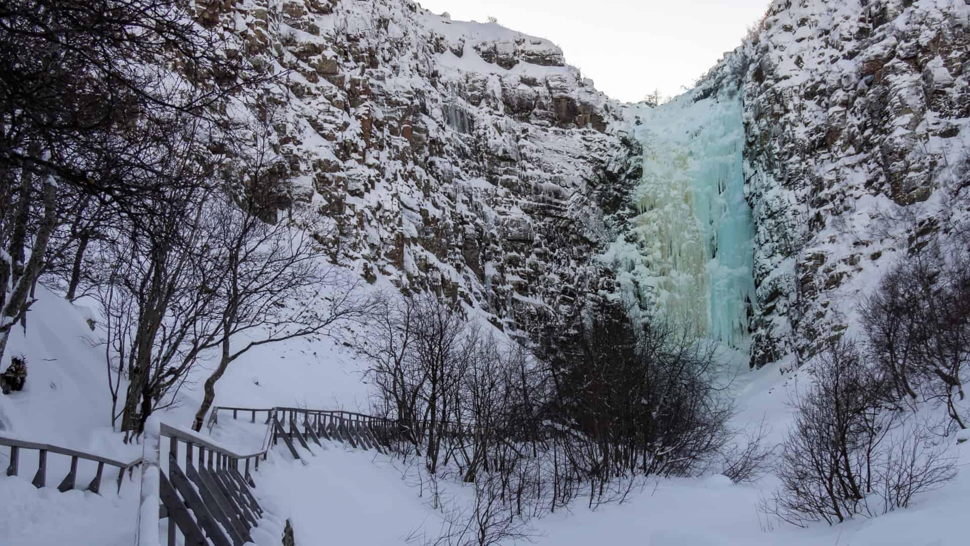 Njupeskär Wasserfall Titel