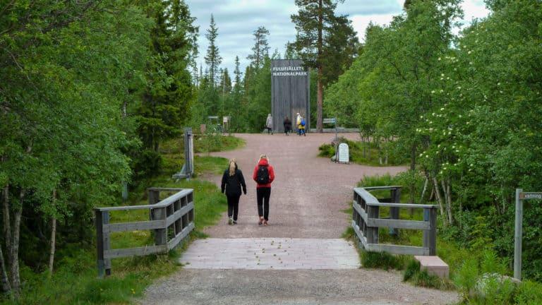 Eingang zum Nationalpark Fulufjället Sommer