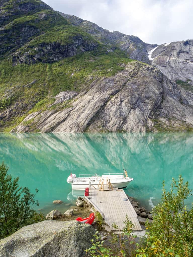 Boot zum Gletscher