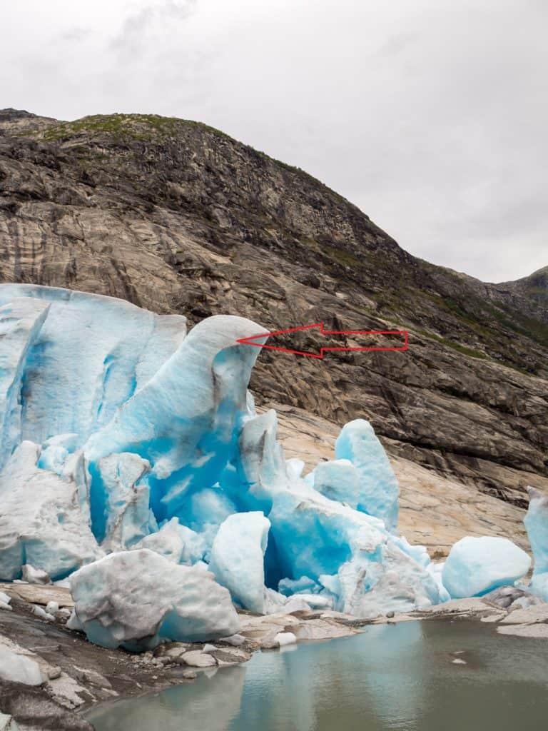 Gletscherfront vorher