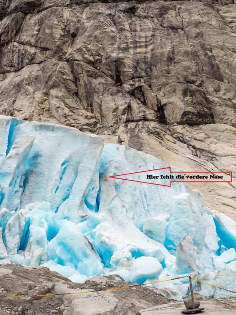 Gletscherfront nachher