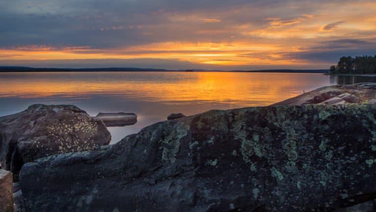 Sonnenuntergang zu Midsommer 1