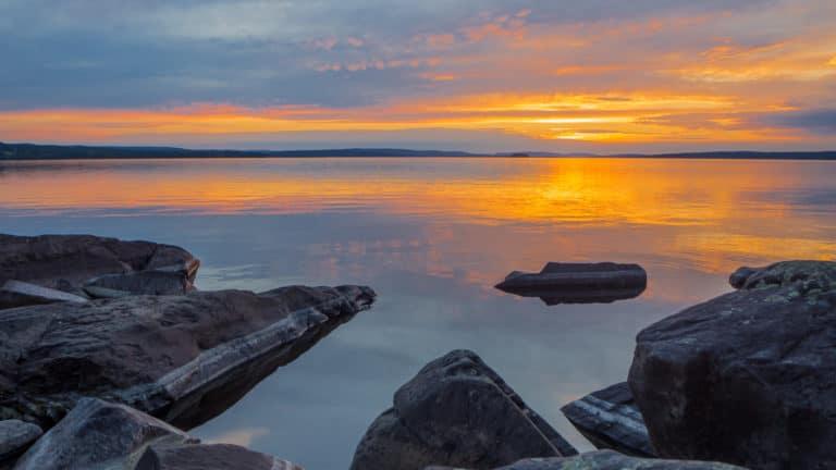 Sonnenuntergang zu Midsommer 2