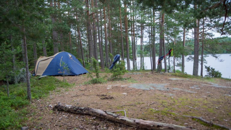 Zelt am Stora Lesjön