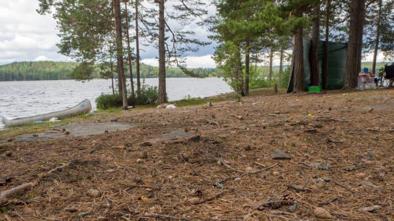 Windschutz am Stora Lesjön