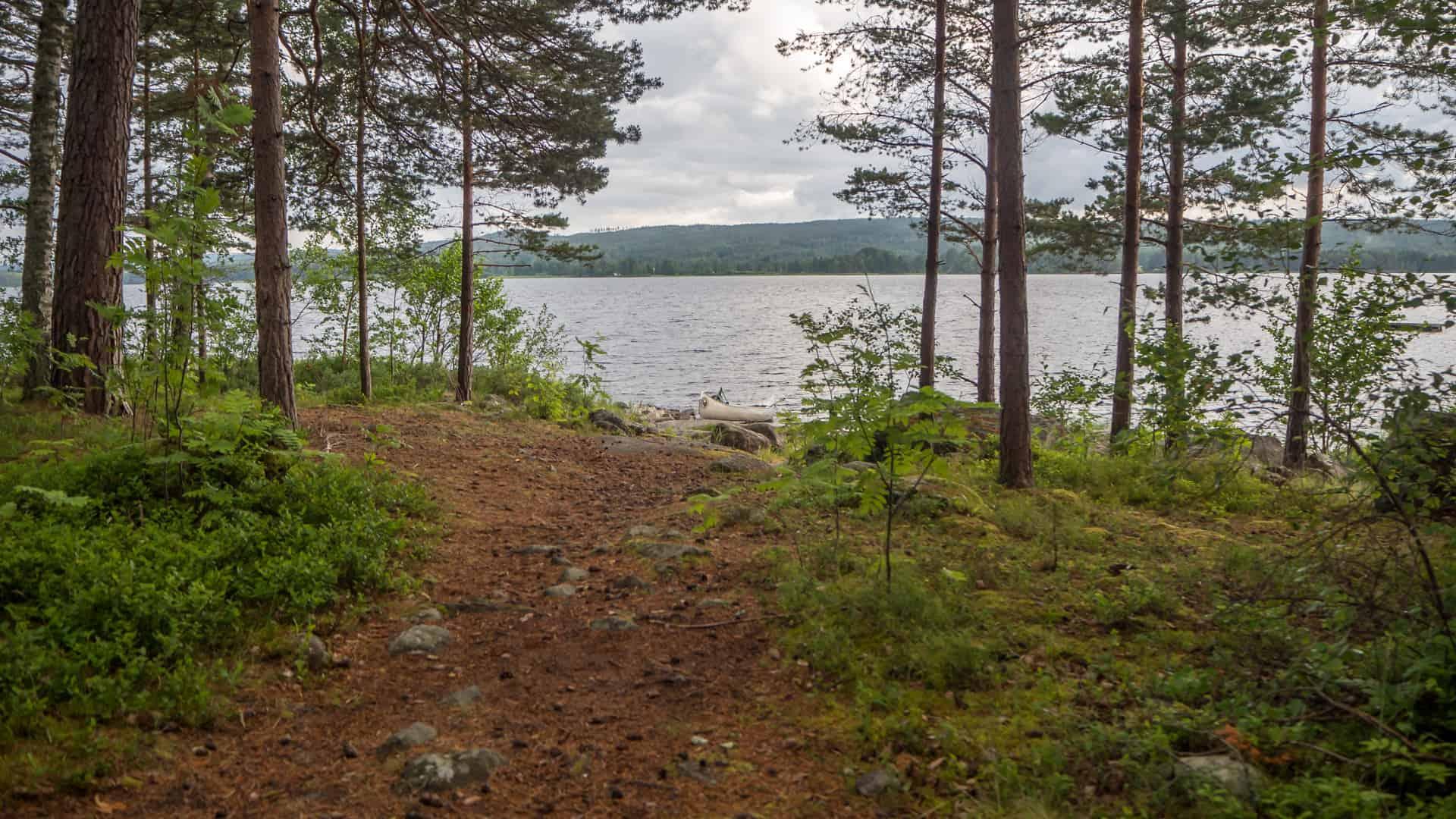 Lagerplatz Glafsfjorden mit Seeblick