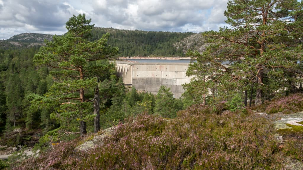 Blick auf den Staudamm 2