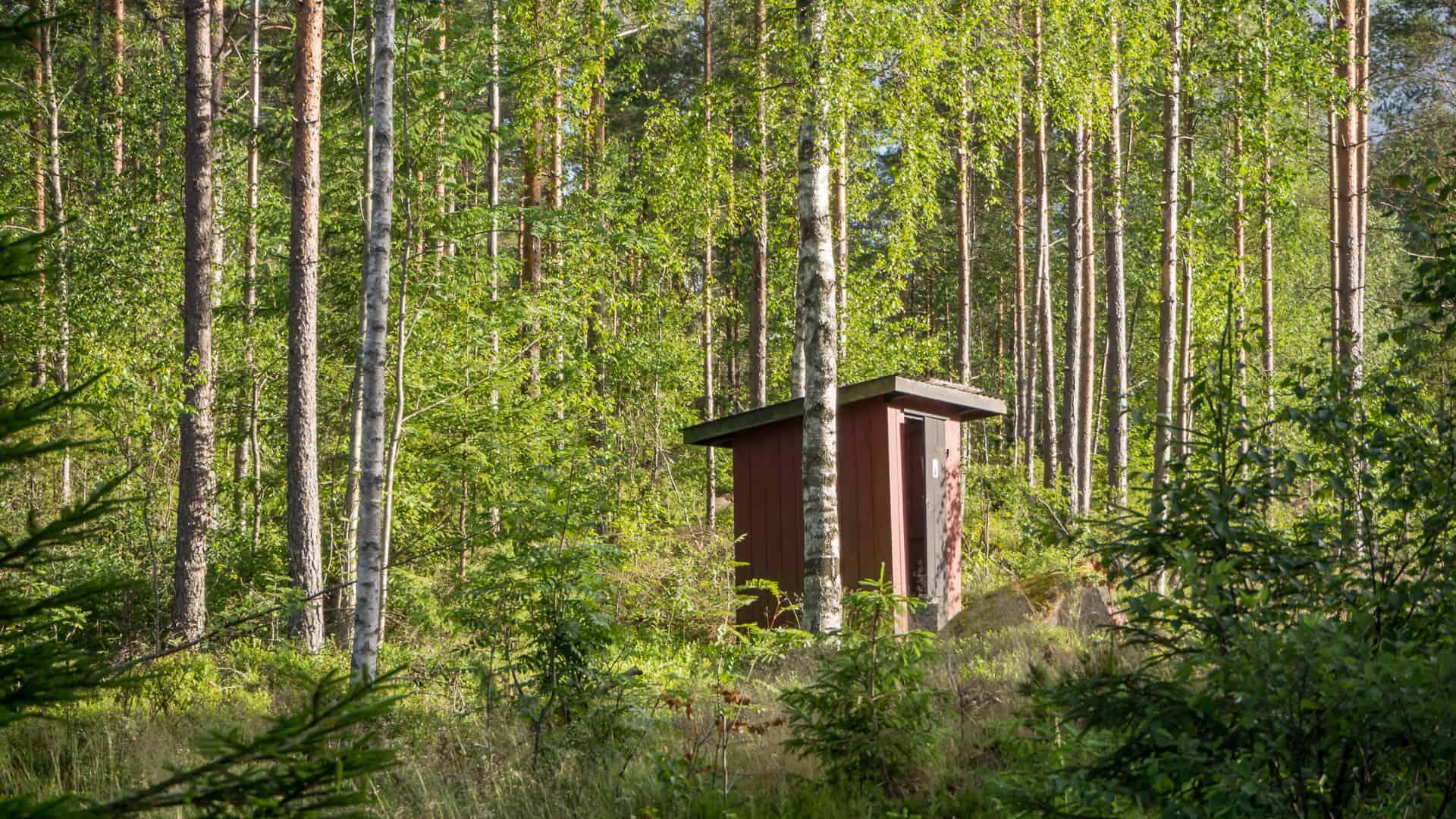 Toilette am Gränsjön