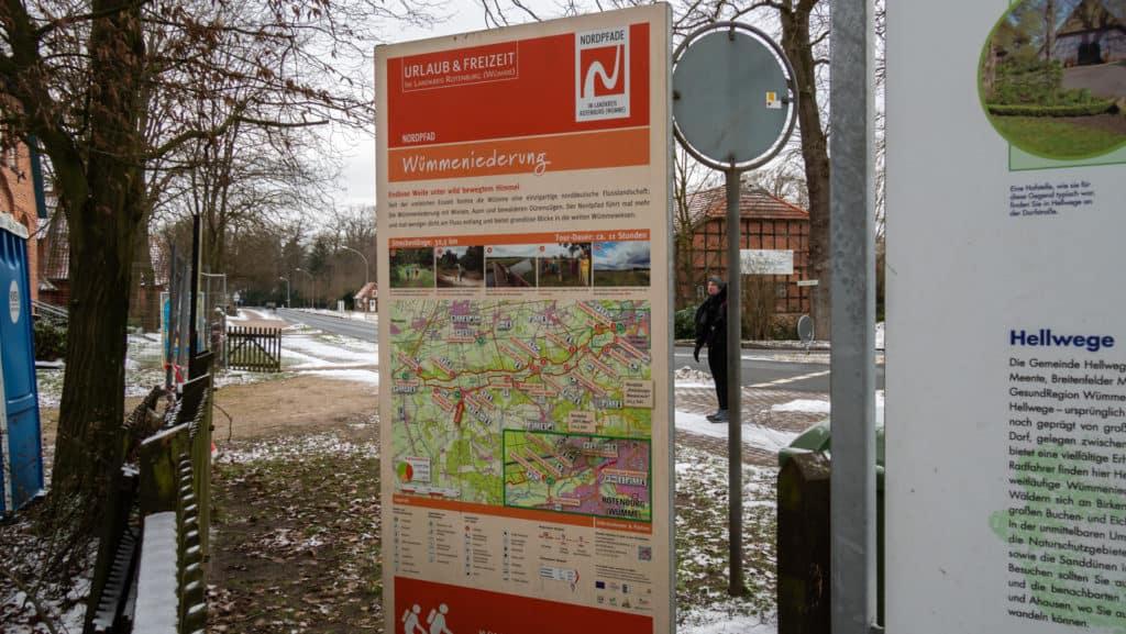 Start Nordpfad Wümmeniederung in Hellwege
