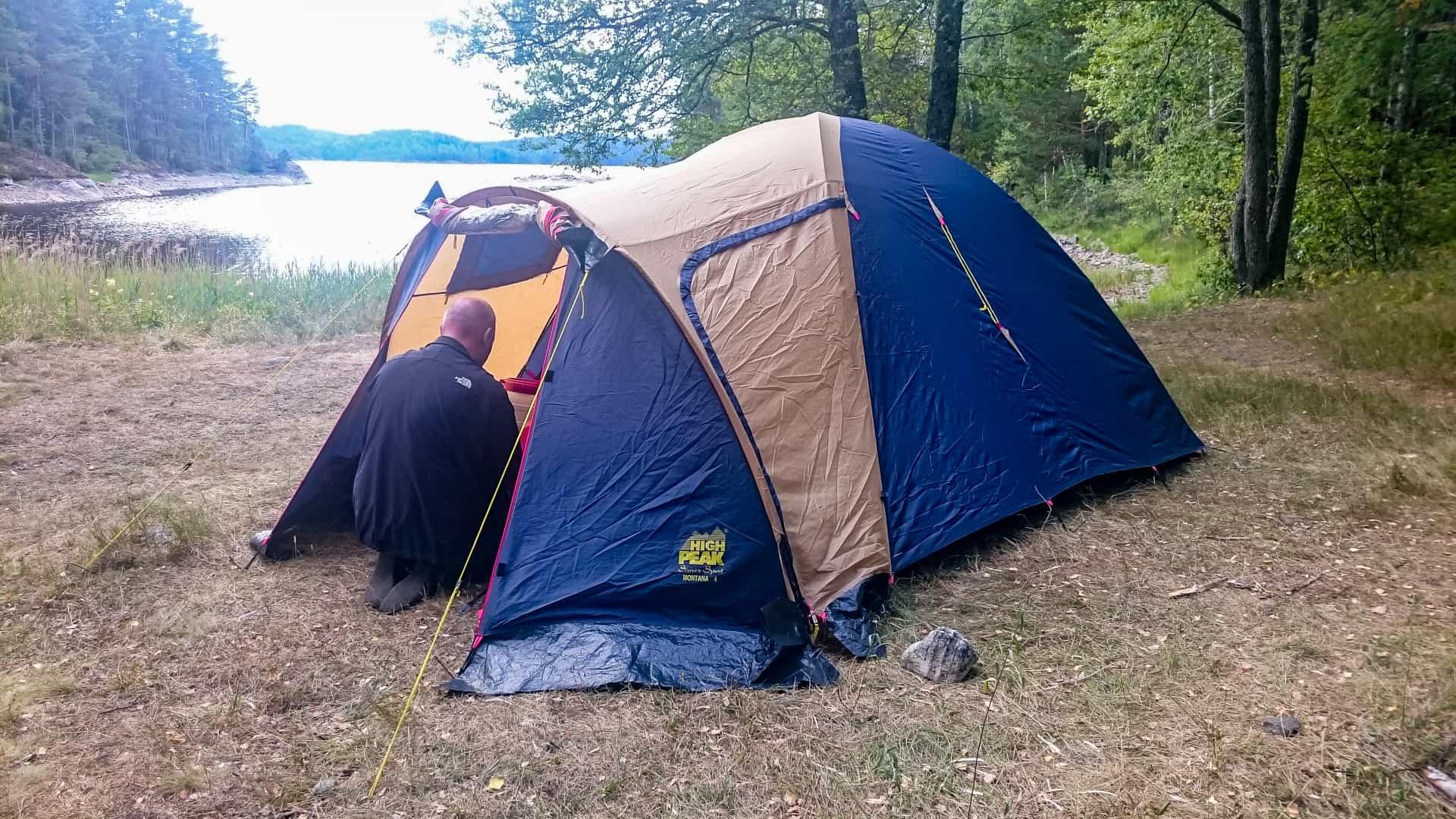 Unser Nachtlager Tag 2